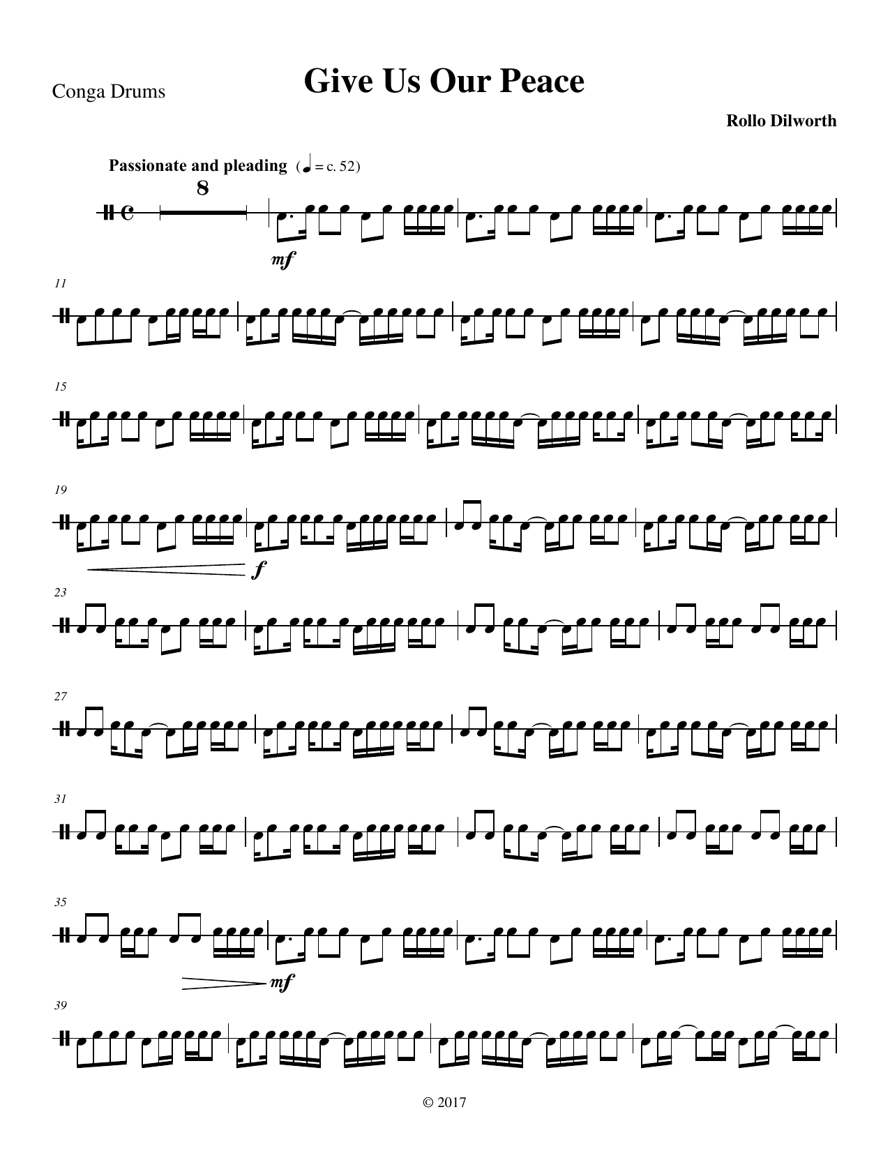 All That Hath Life and Breath - Congas Sheet Music
