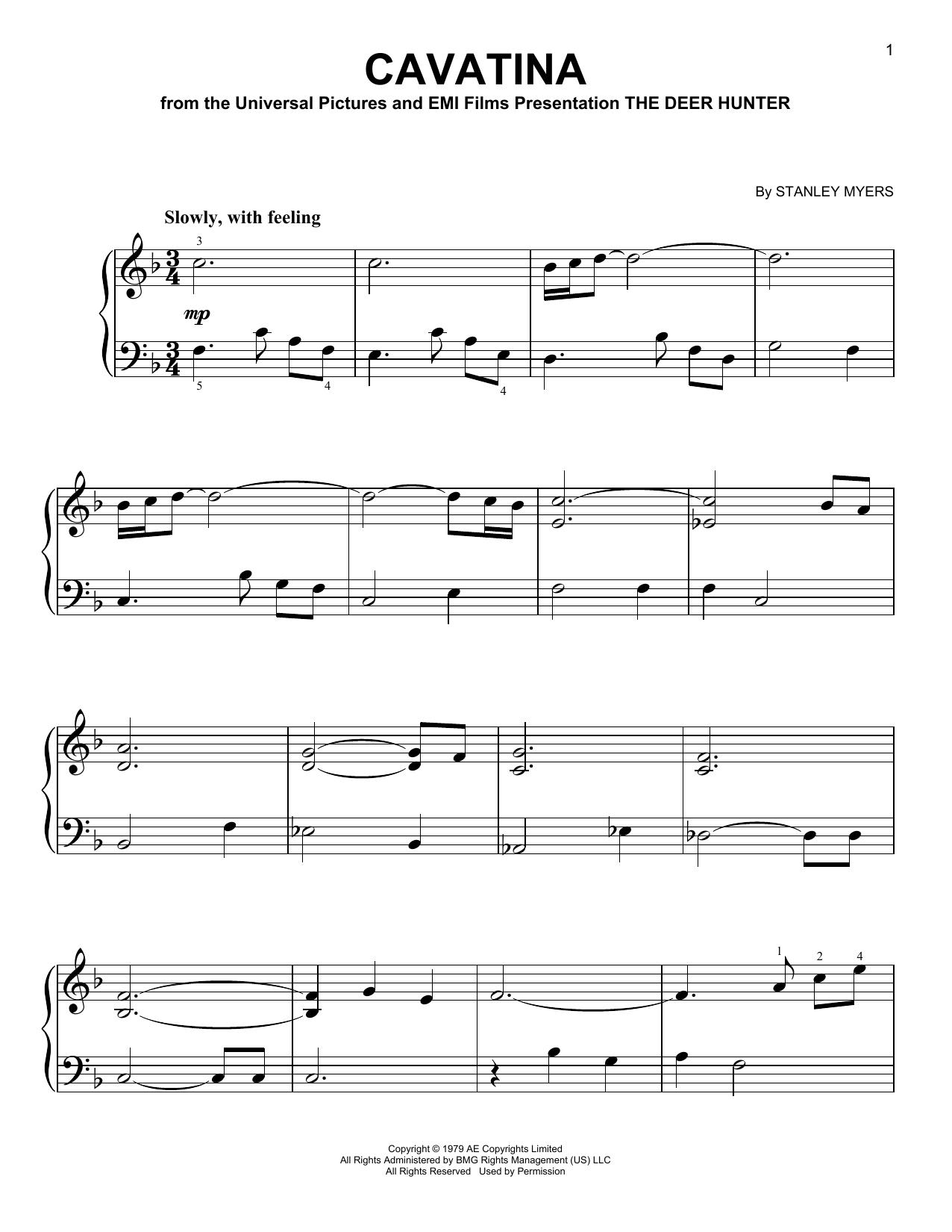 Cavatina (Very Easy Piano)