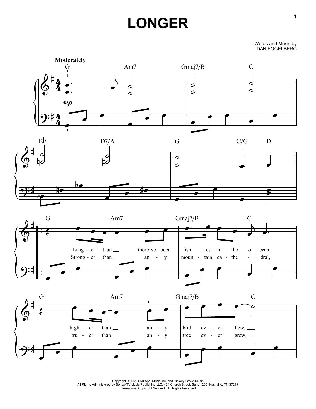 Longer (Very Easy Piano)