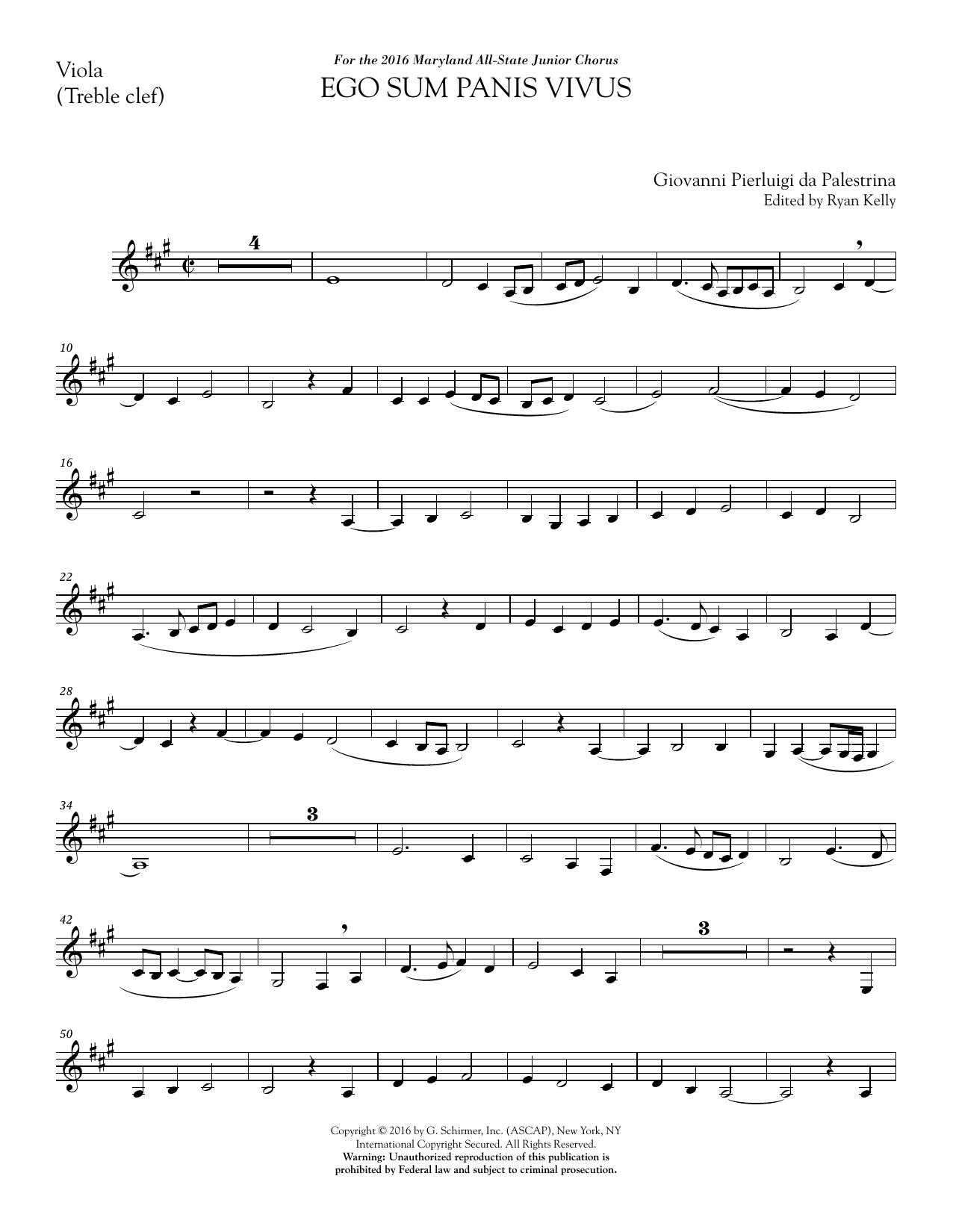 Ego sum panis vivus (ed. Ryan Kelly) - 1st Viola Sheet Music