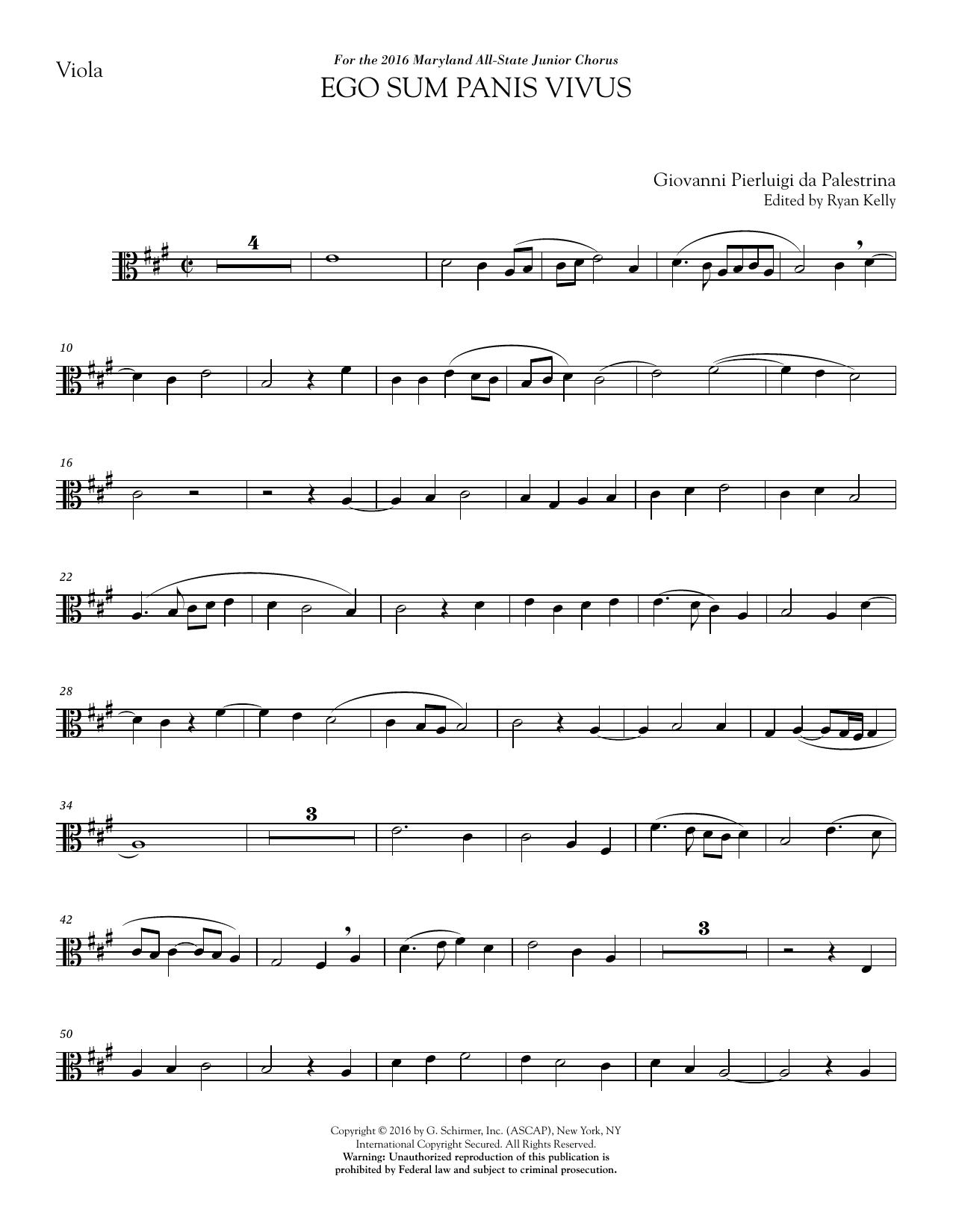Ego sum panis vivus (ed. Ryan Kelly) - 2nd Viola Sheet Music