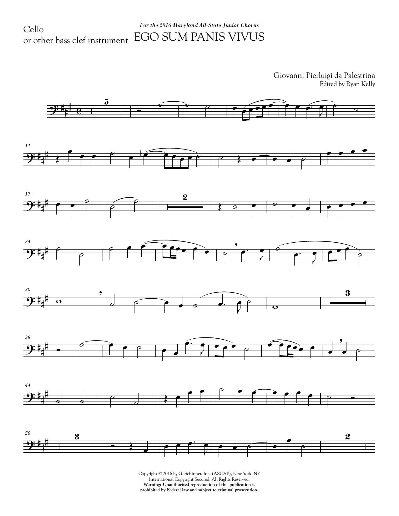 Ego sum panis vivus (ed. Ryan Kelly) - Cello Sheet Music