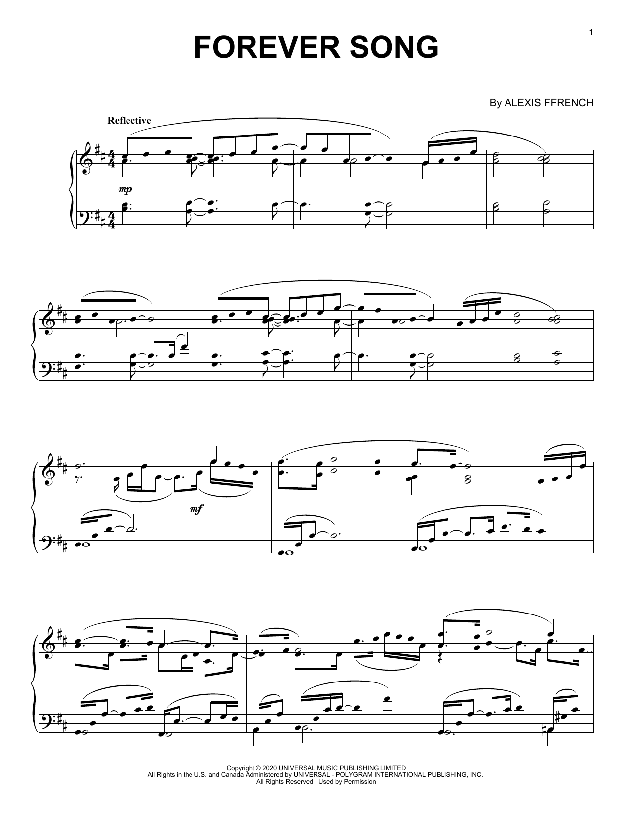 Forever Song (Piano Solo)