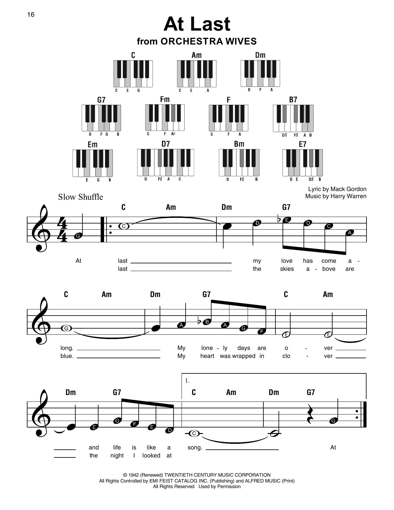 At Last Sheet Music