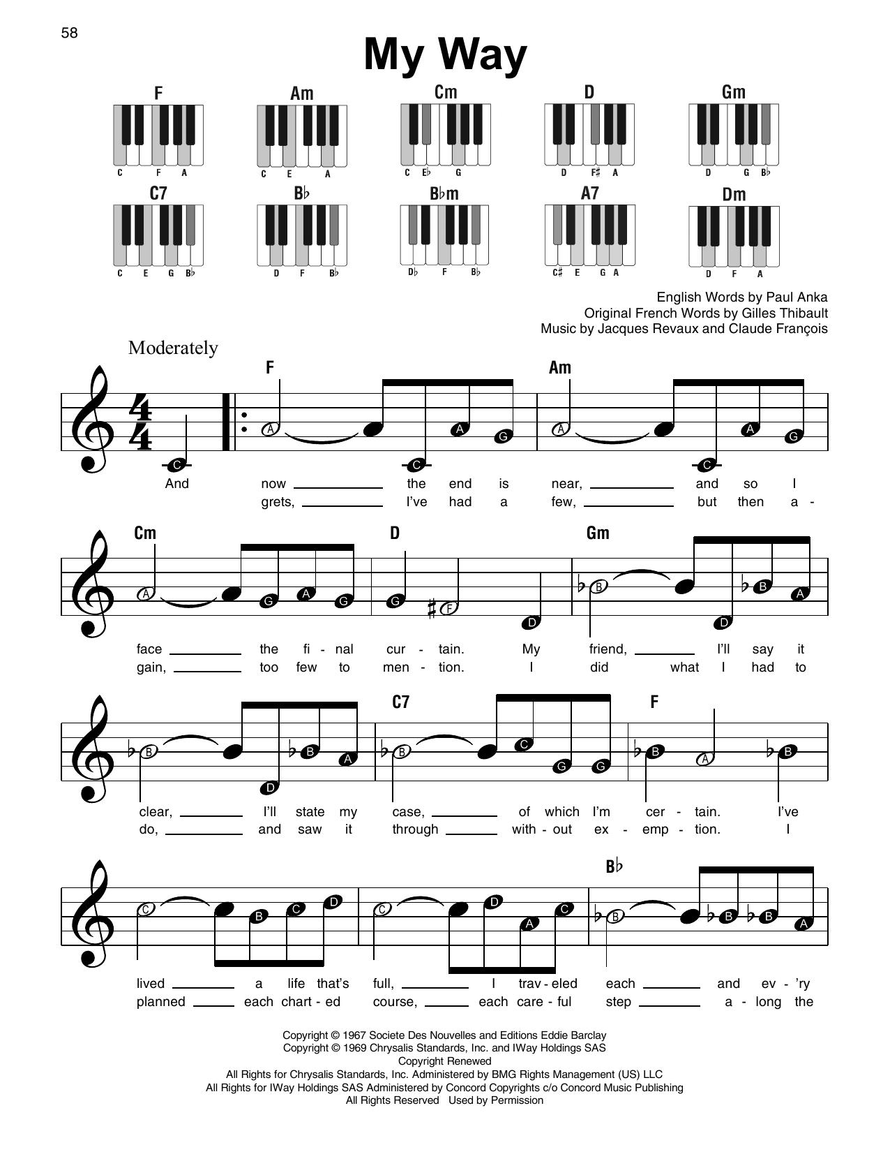 My Way (Super Easy Piano)