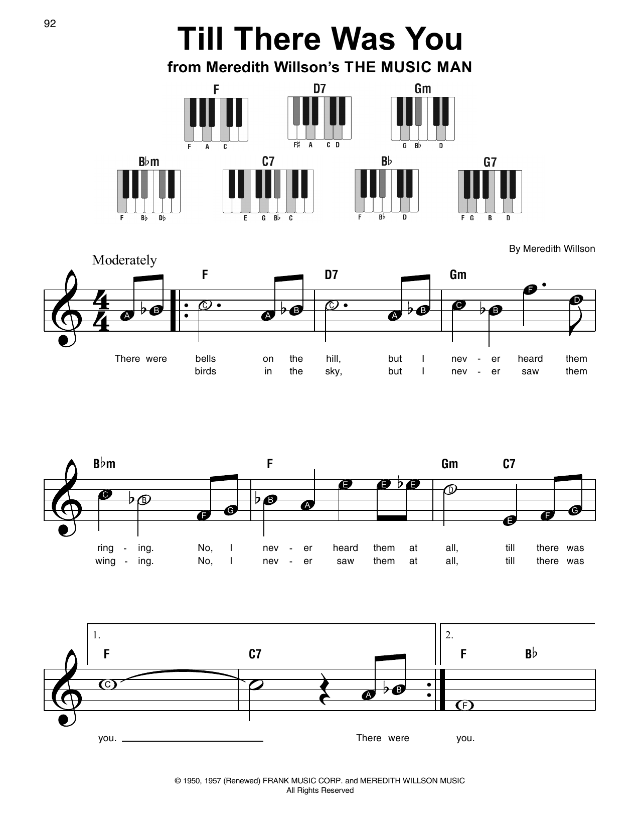 Till There Was You (from The Music Man) (Super Easy Piano)