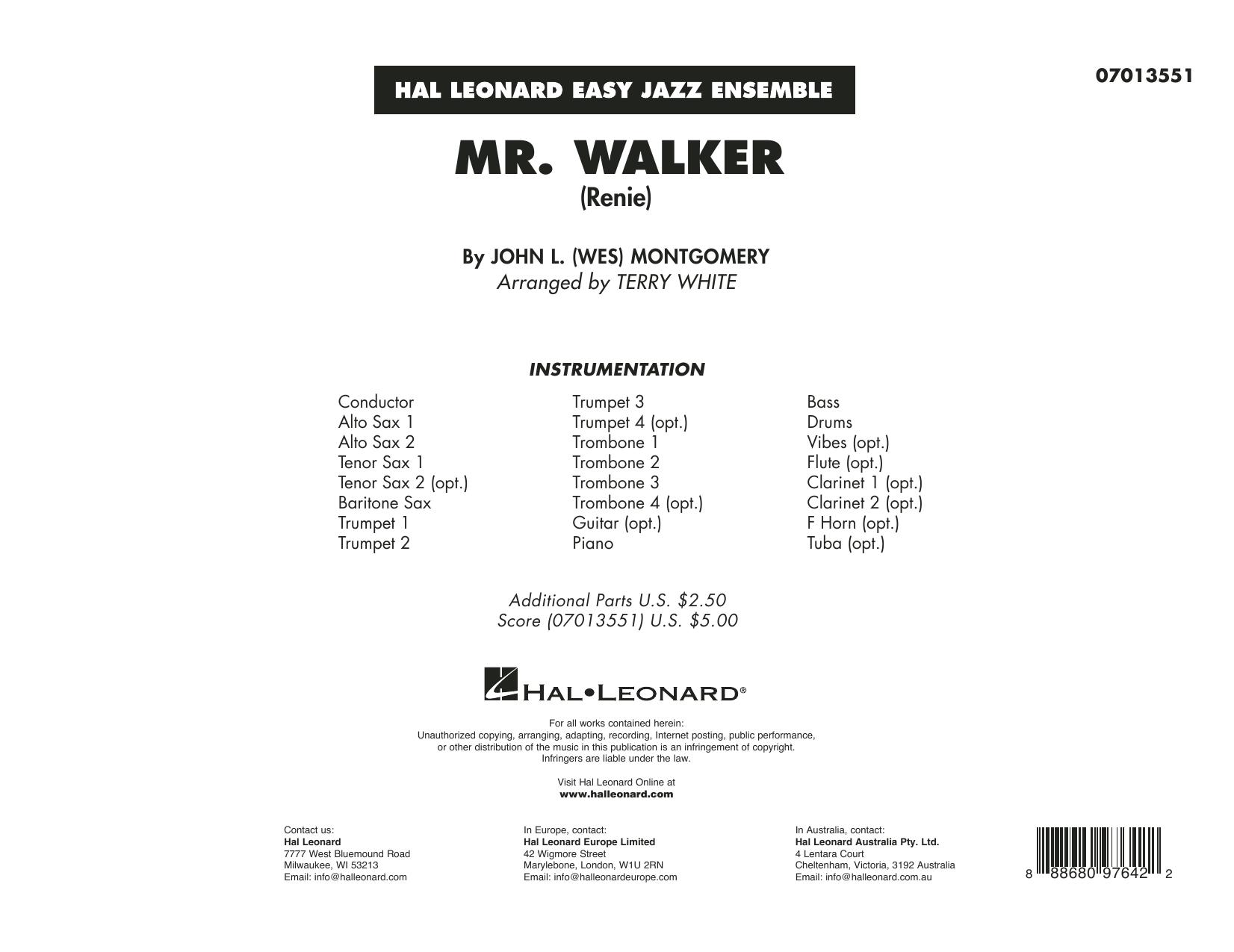 Mr. Walker (arr. Terry White) - Conductor Score (Full Score) Sheet Music