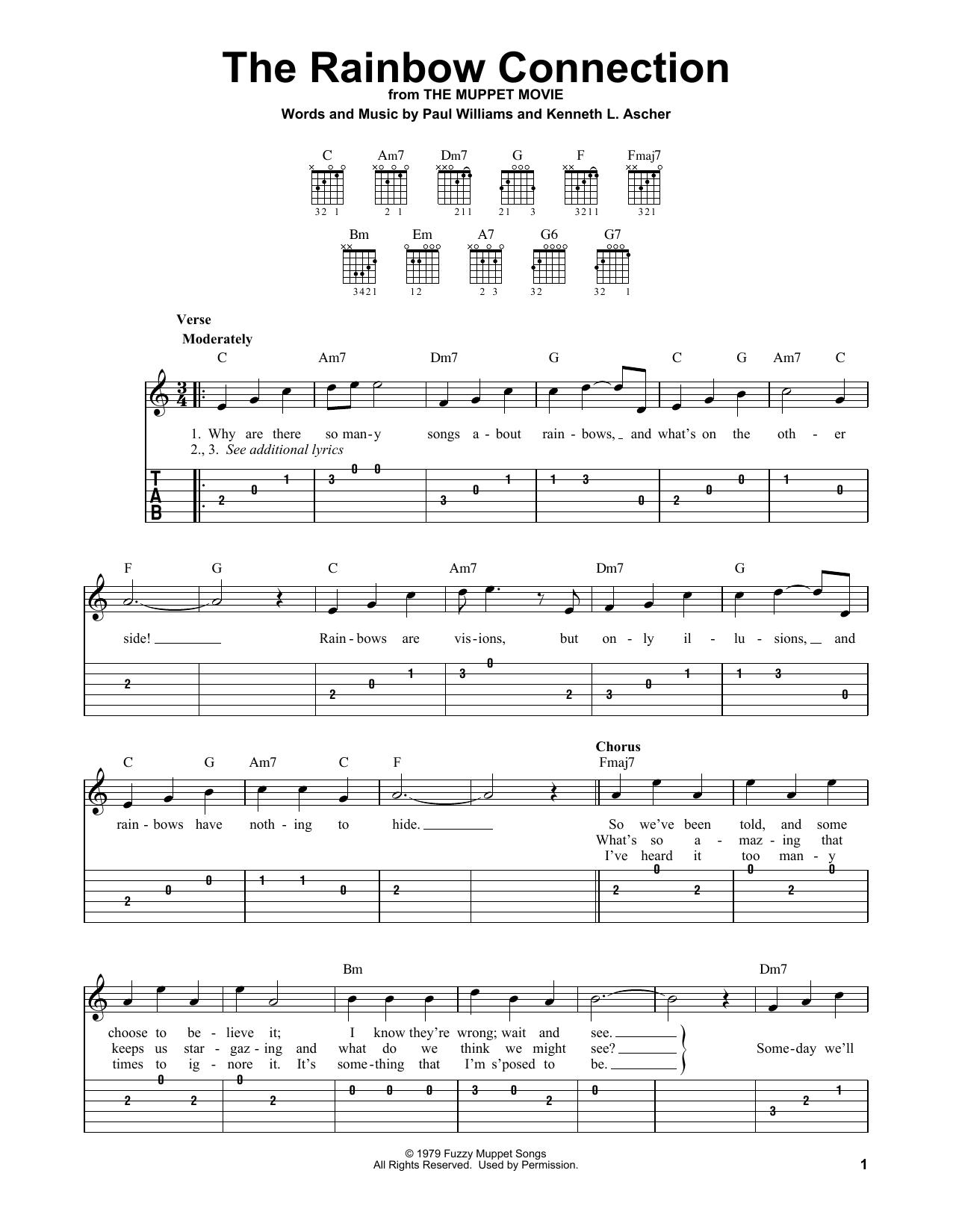 The Rainbow Connection (Easy Guitar Tab)