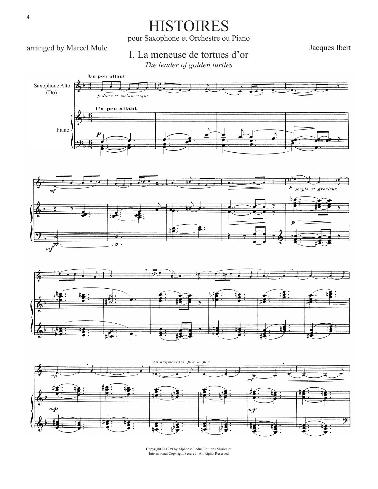 Histoires (arr. Marcel Mule) (Alto Sax and Piano)