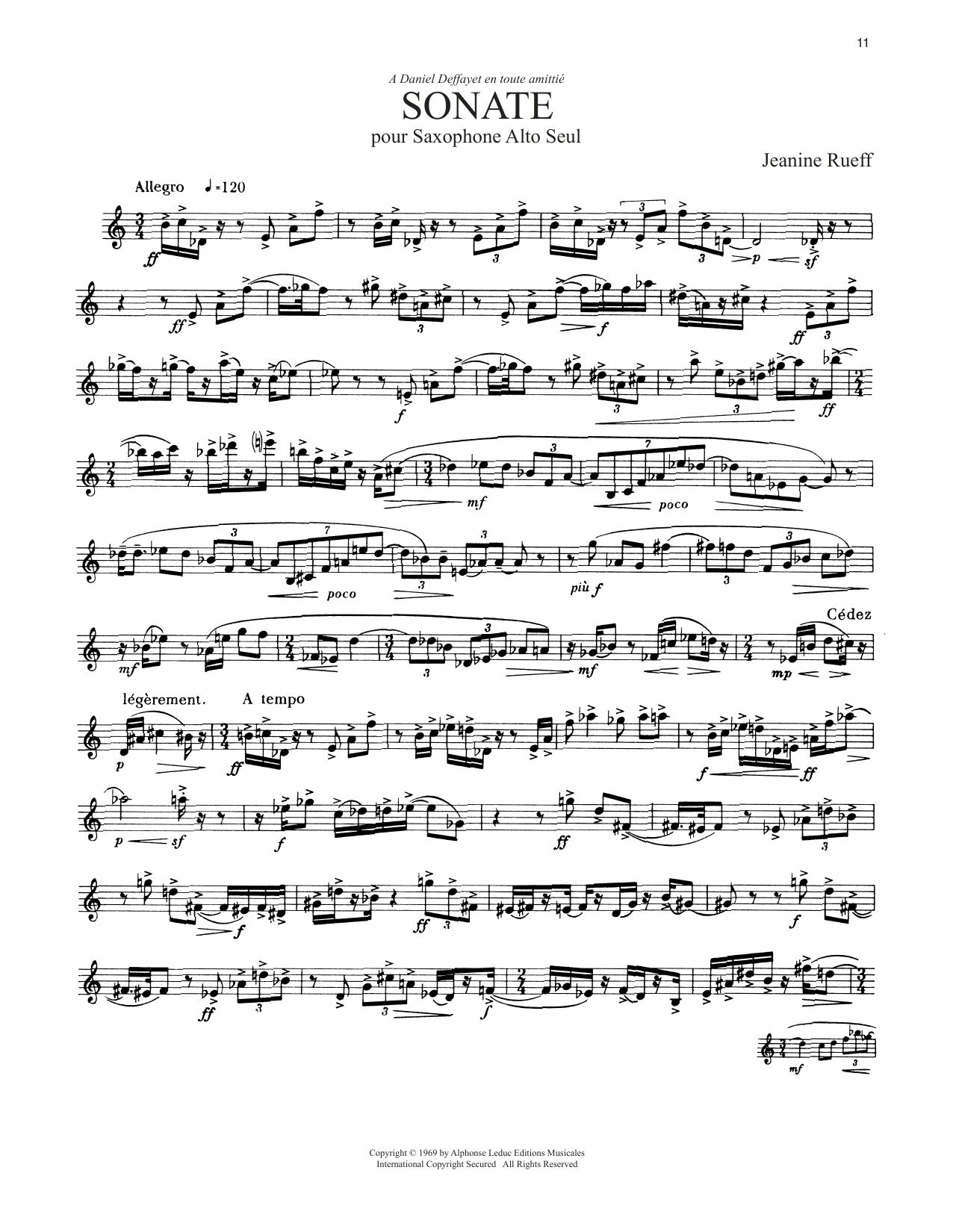 Sonate (Alto Sax Solo)