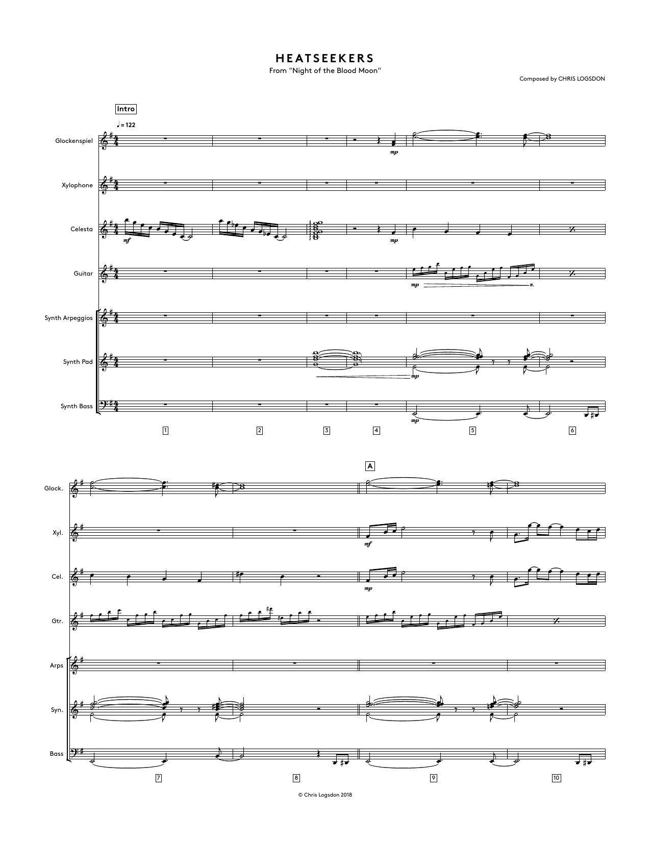 Heatseekers (from Night of the Blood Moon) - Full Score Sheet Music