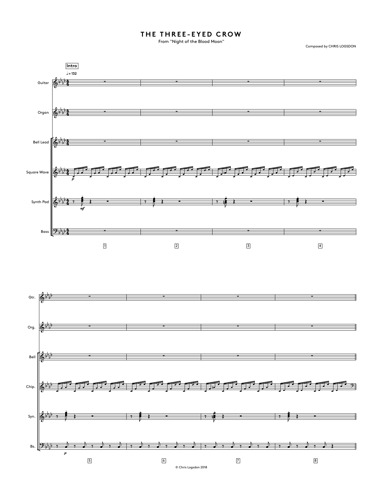 The Three-Eyed Crow (from Night of the Blood Moon) - Full Score Sheet Music