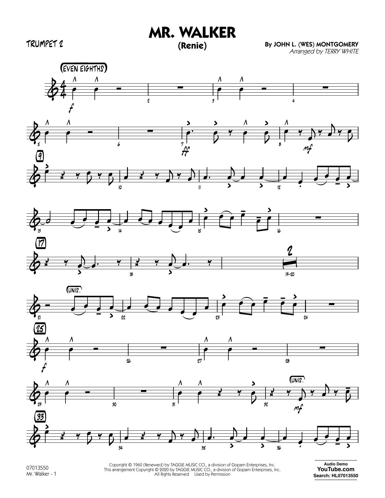 Mr. Walker (arr. Terry White) - Trumpet 2 Sheet Music
