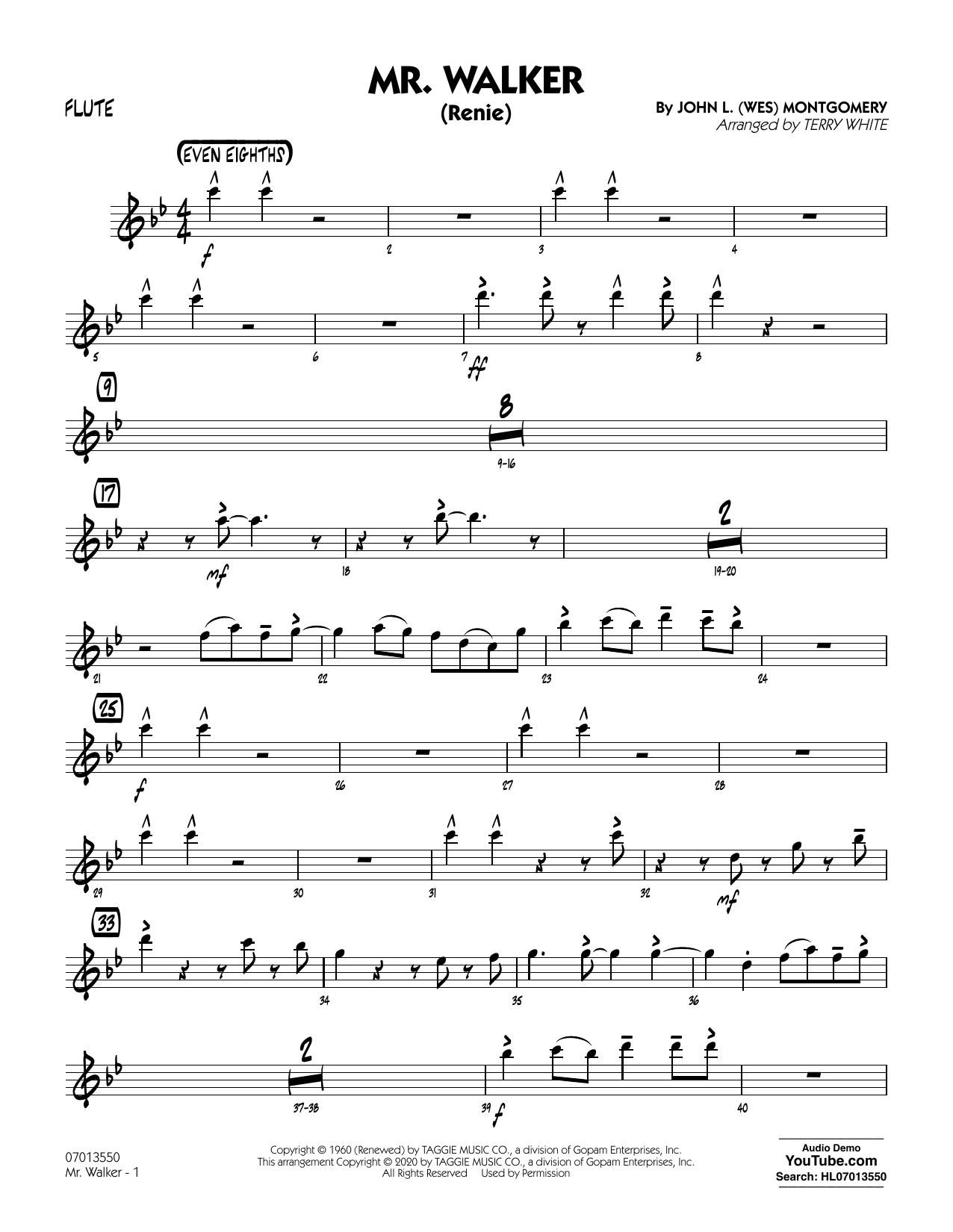 Mr. Walker (arr. Terry White) - Flute Sheet Music