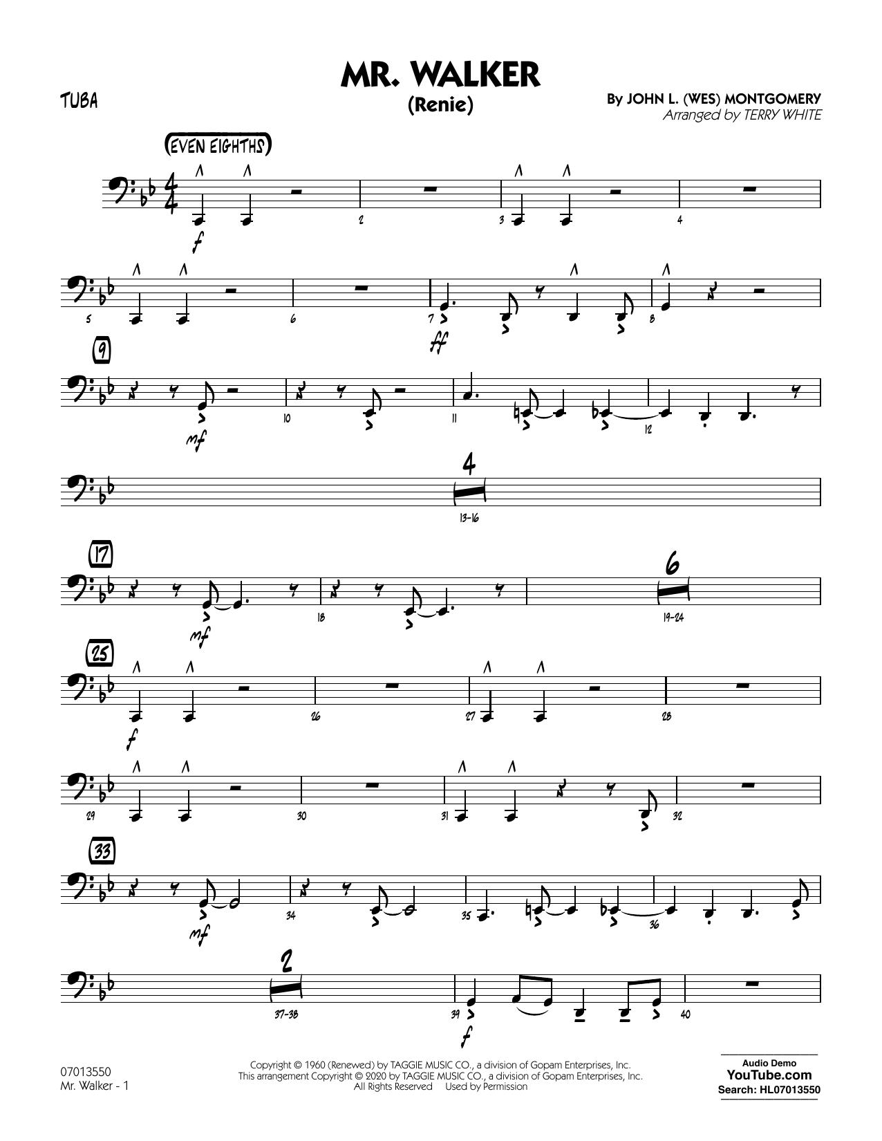 Mr. Walker (arr. Terry White) - Tuba Sheet Music