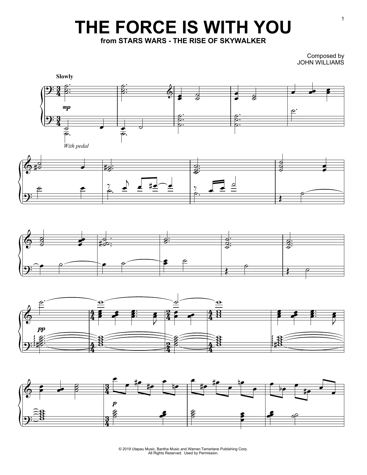 The Force Is With You (from The Rise Of Skywalker) (Piano Solo)