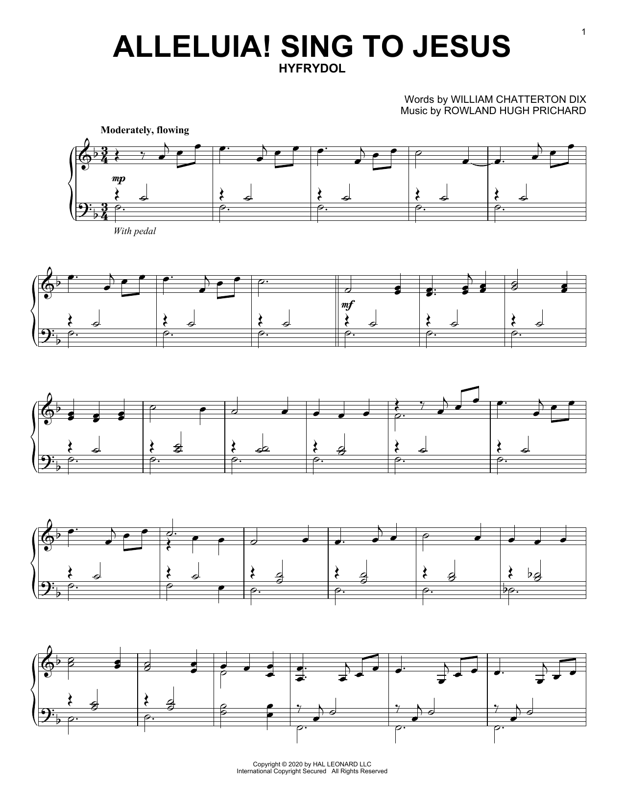 Alleluia! Sing To Jesus (Piano Solo)