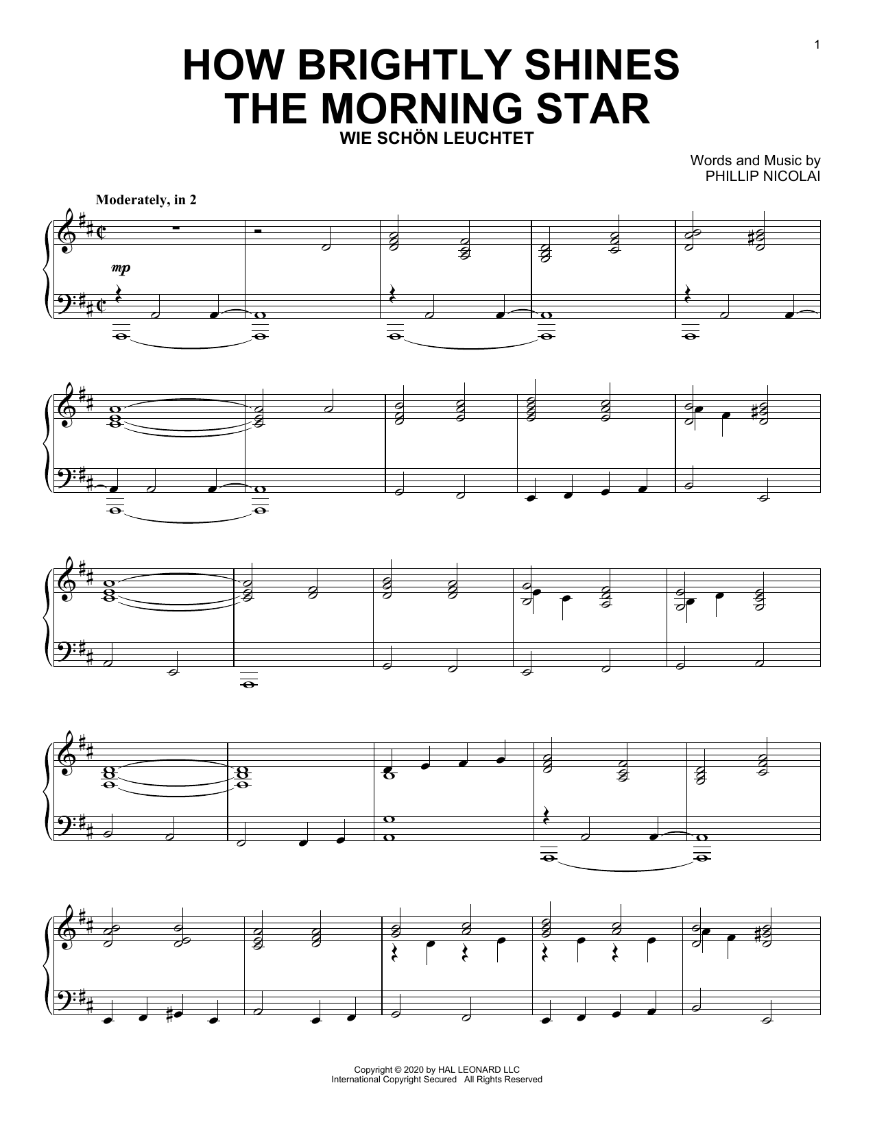 How Brightly Shines The Morning Star (Piano Solo)