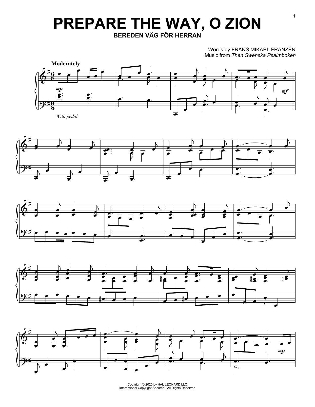 Prepare The Way, O Zion (Piano Solo)
