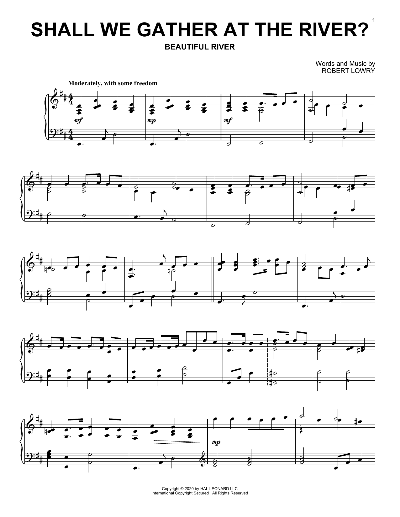 Shall We Gather At The River? (Piano Solo)