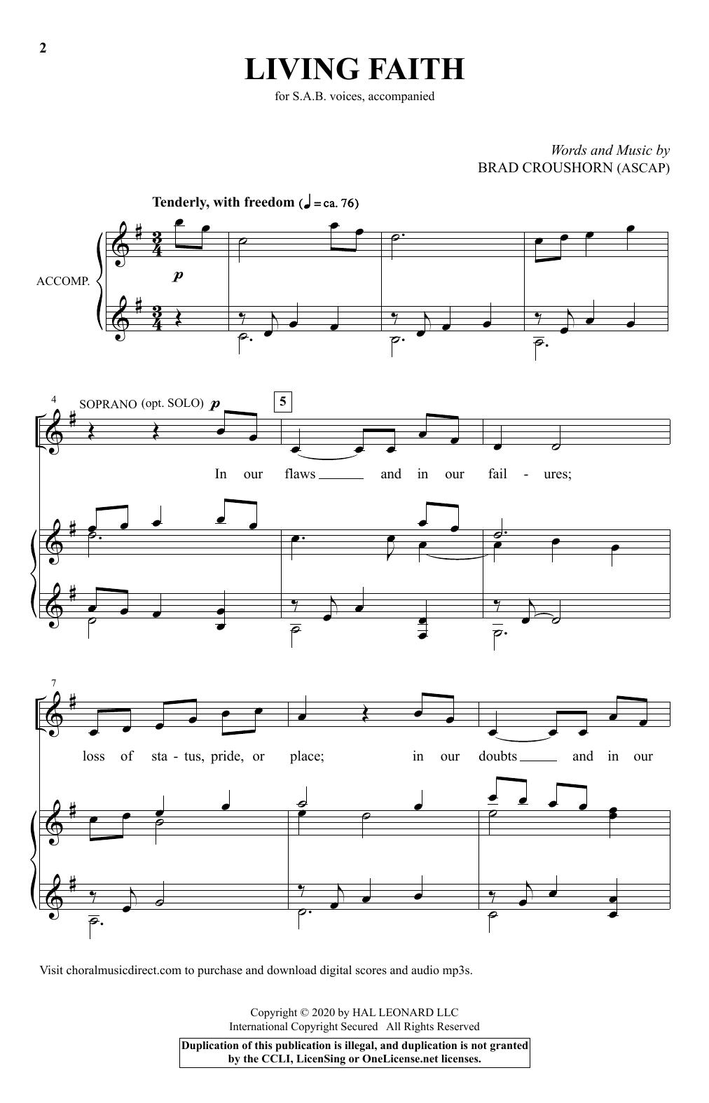 Living Faith (SAB Choir)