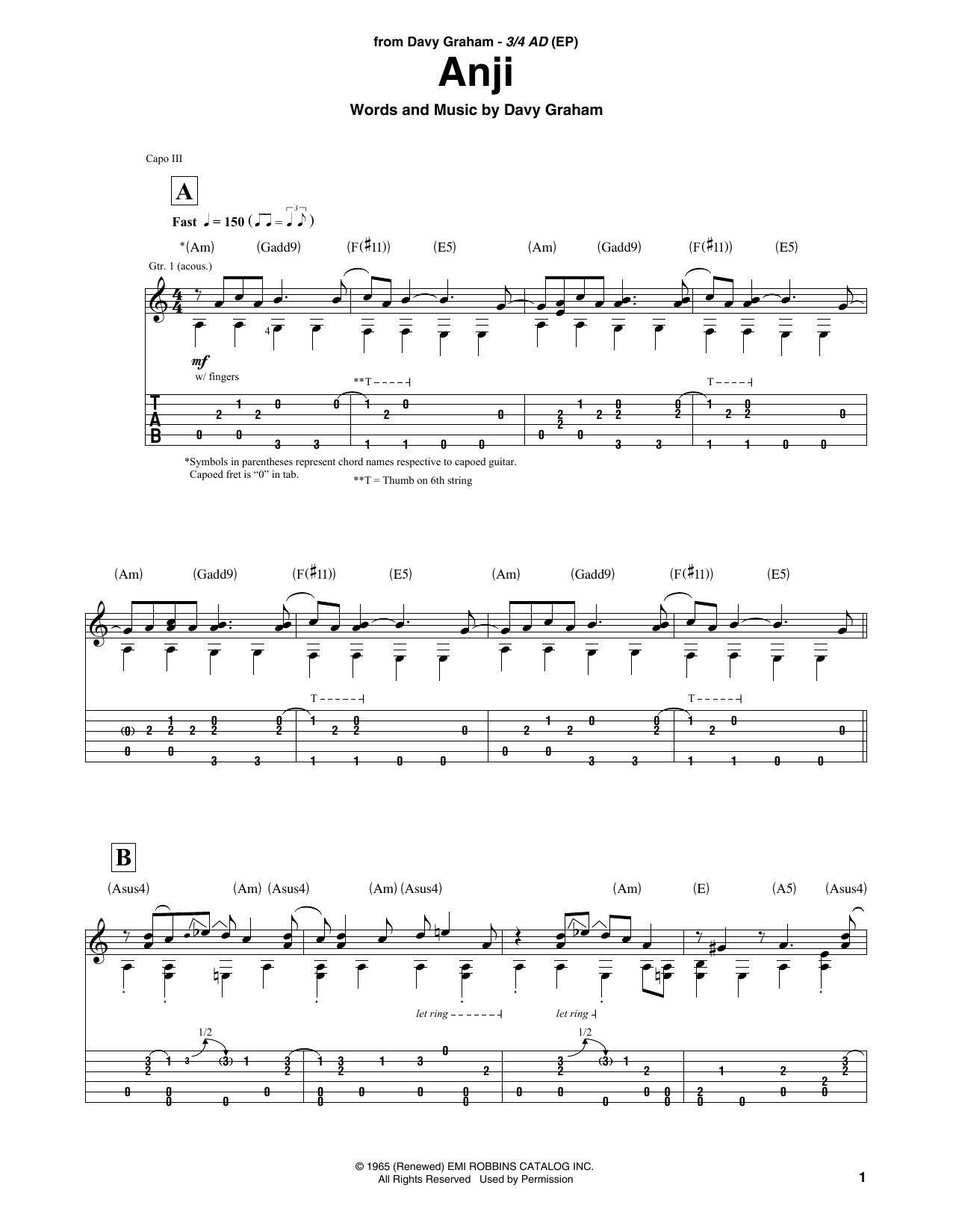 Anji Sheet Music