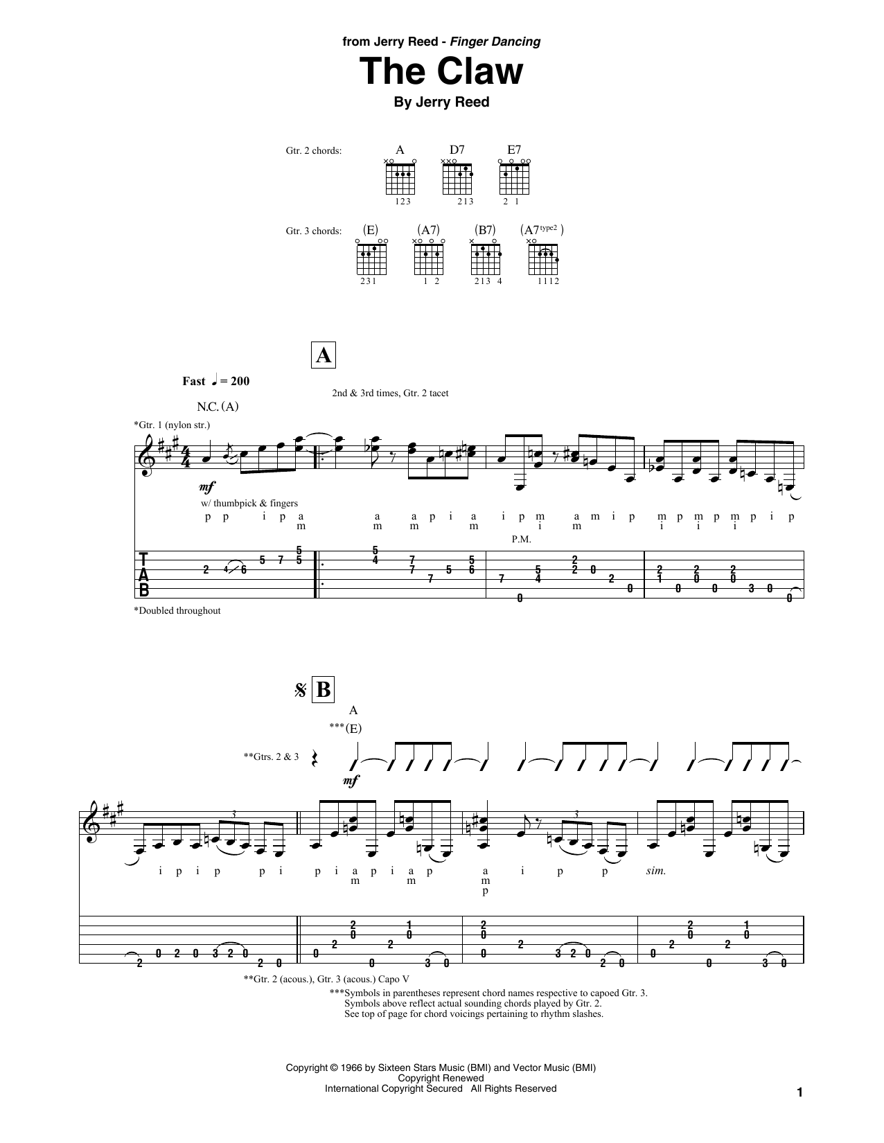 The Claw Sheet Music