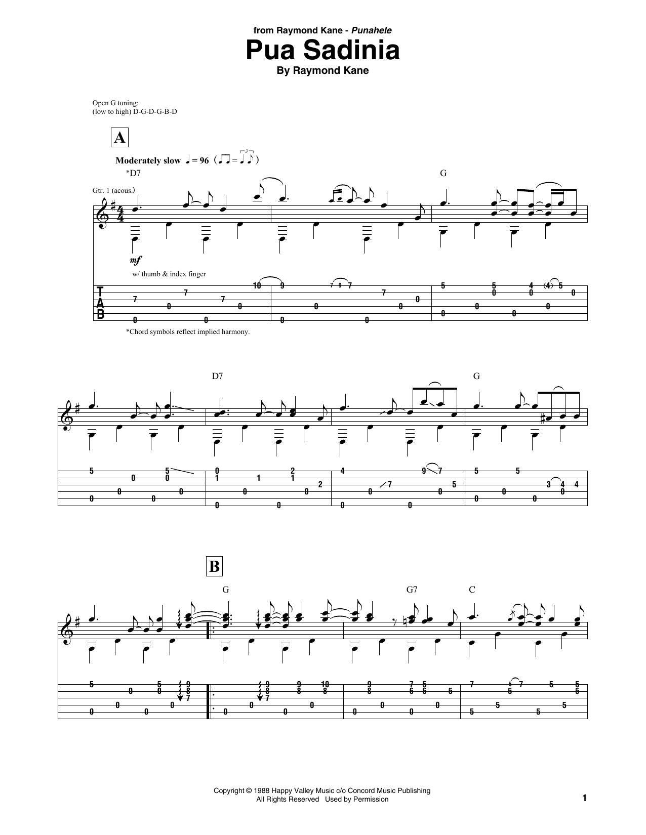 Pua Sadinia Sheet Music