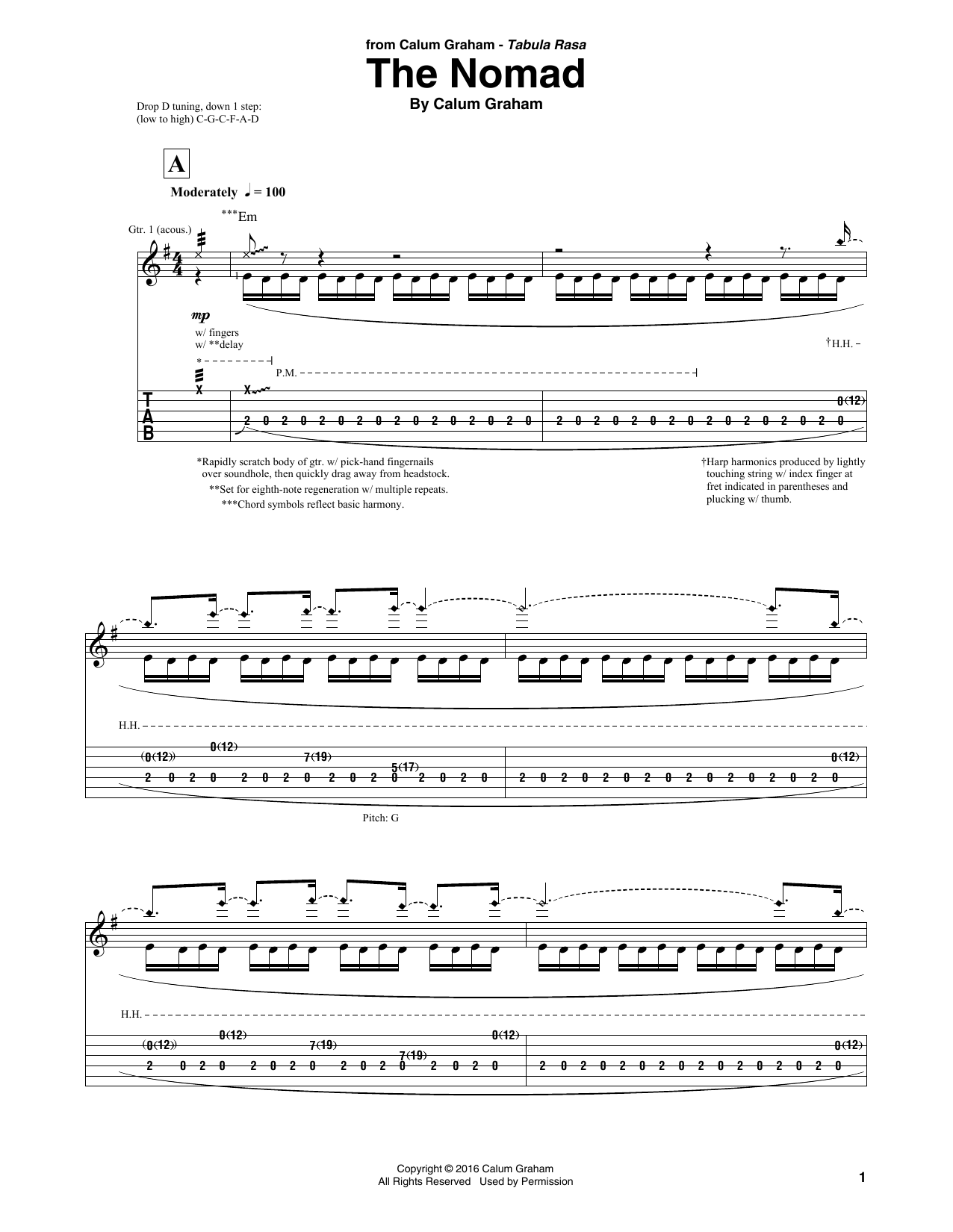 The Nomad (Solo Guitar Tab)