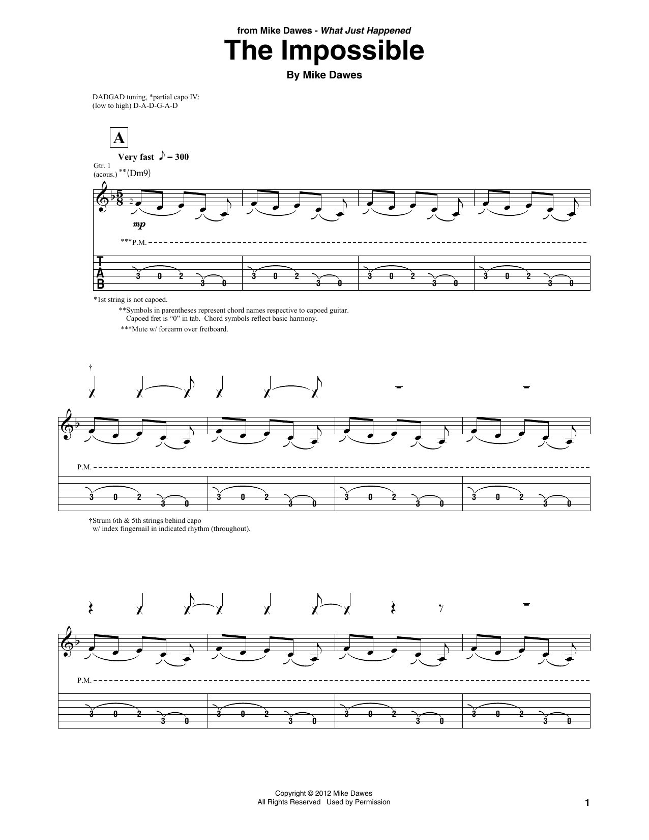 The Impossible (Solo Guitar Tab)