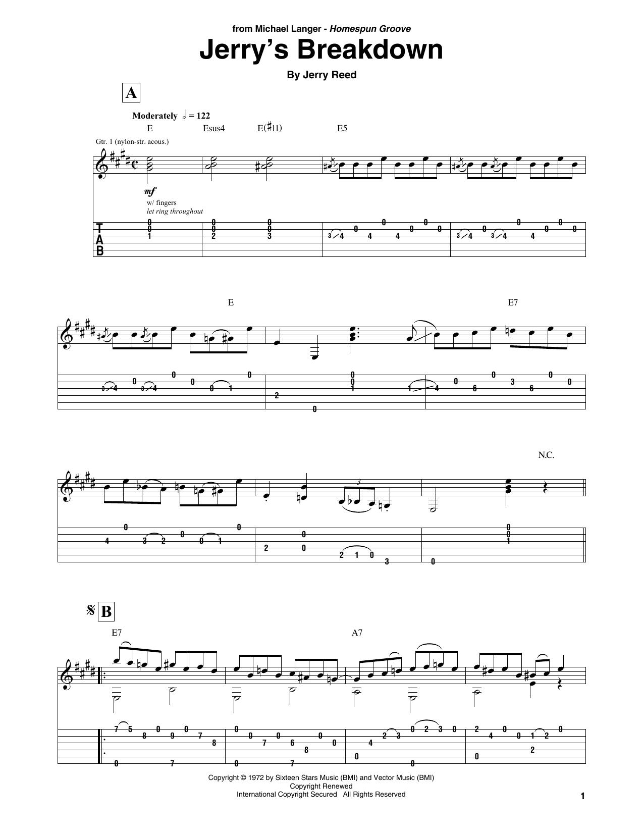 Jerry's Breakdown (Solo Guitar)