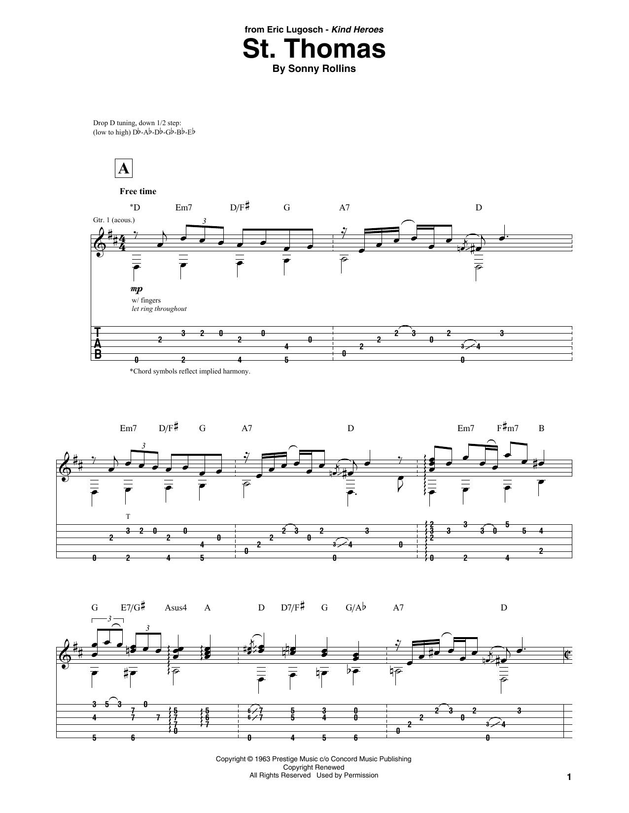 St. Thomas (Solo Guitar Tab)