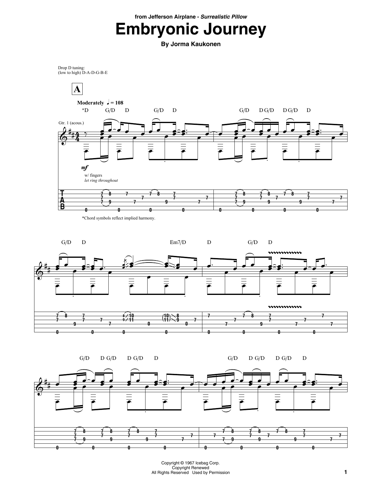 Embryonic Journey (Solo Guitar)