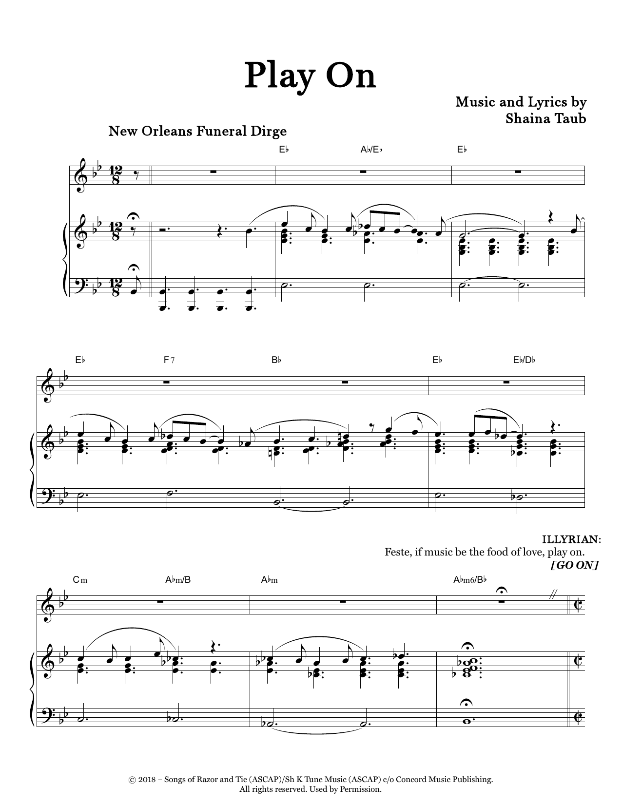 Play On (from Twelfth Night) Sheet Music