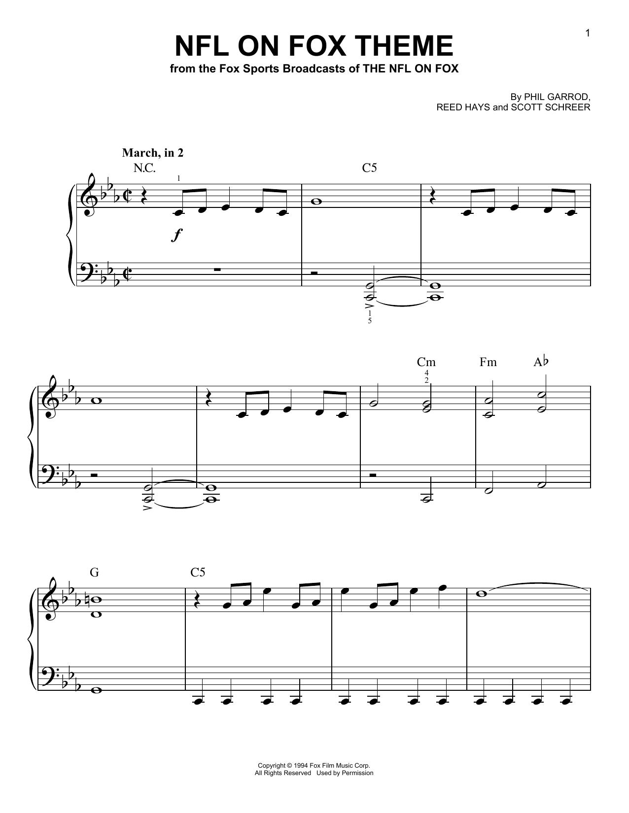 NFL On Fox Theme (Very Easy Piano)