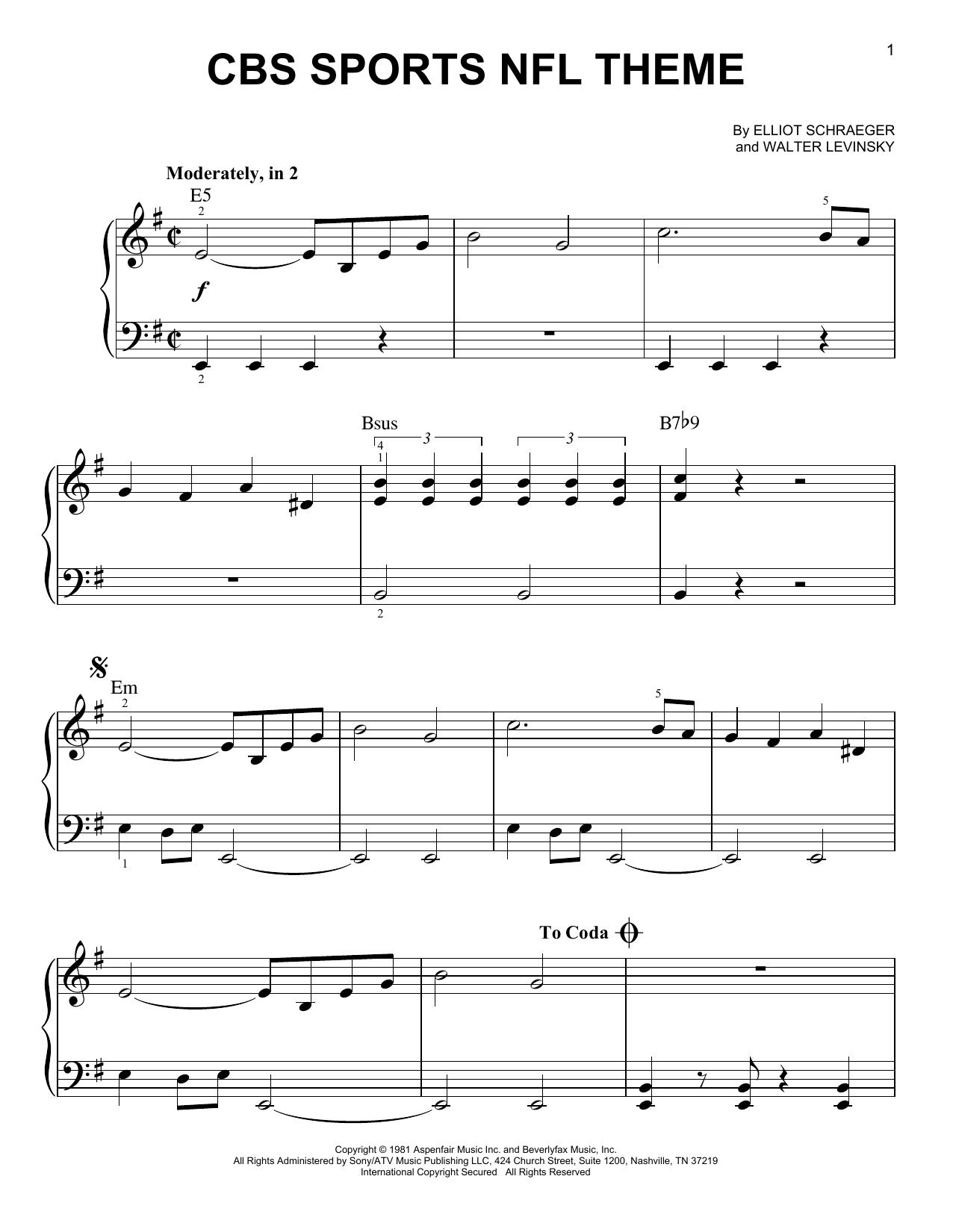 CBS Sports NFL Theme (Very Easy Piano)