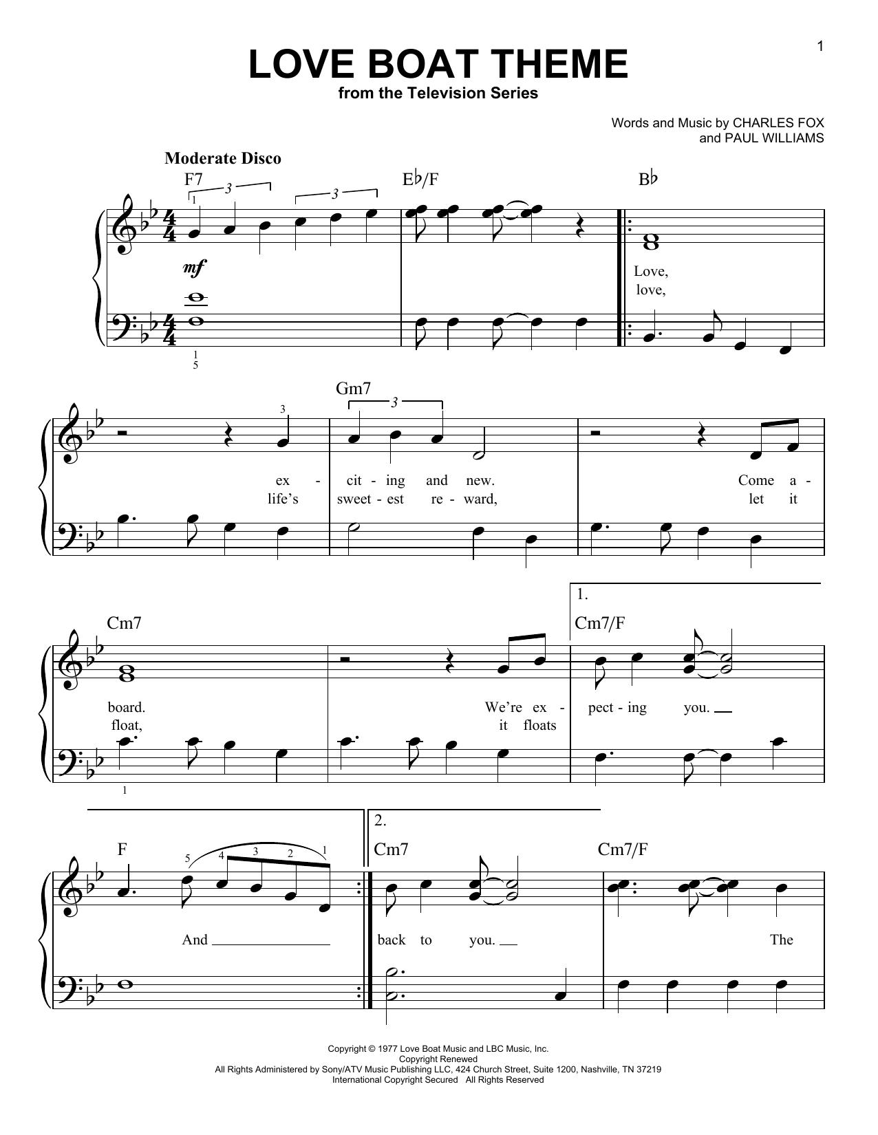 Love Boat Theme (Very Easy Piano)