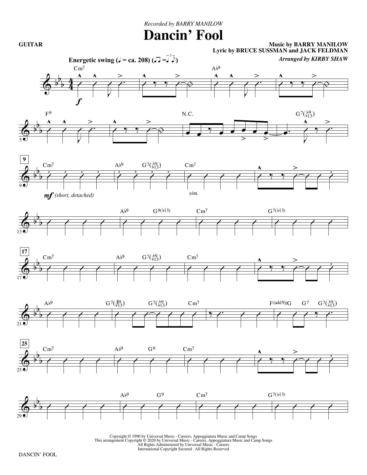 Dancin' Fool (arr. Kirby Shaw) - Guitar Sheet Music