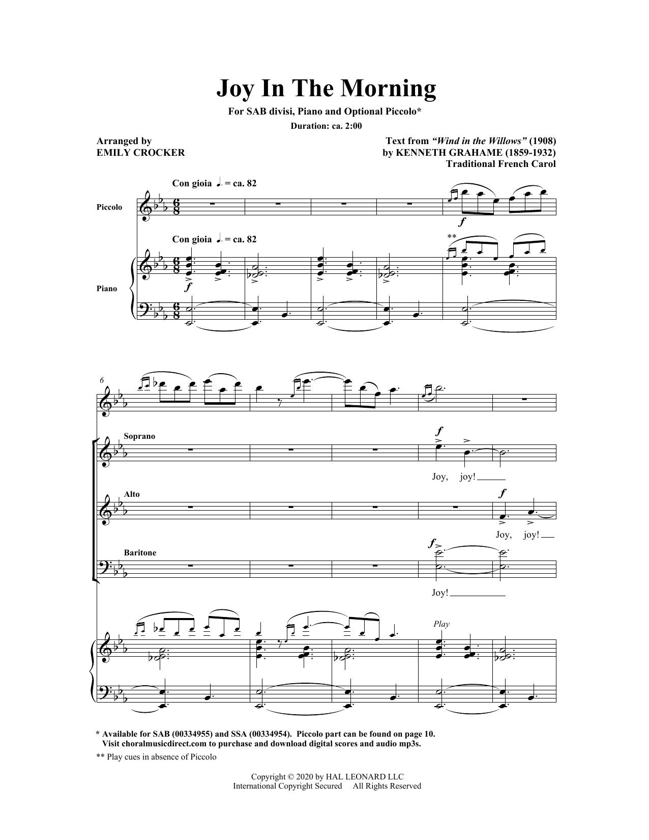 Joy In The Morning (SAB Choir)