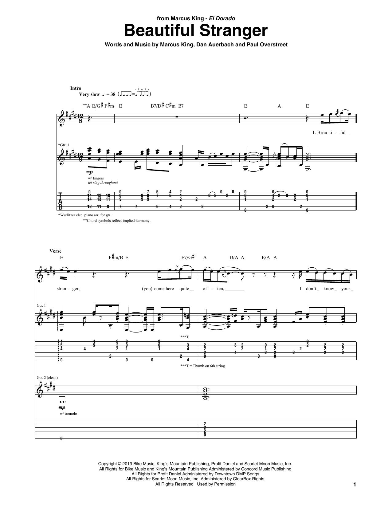 Beautiful Stranger Sheet Music