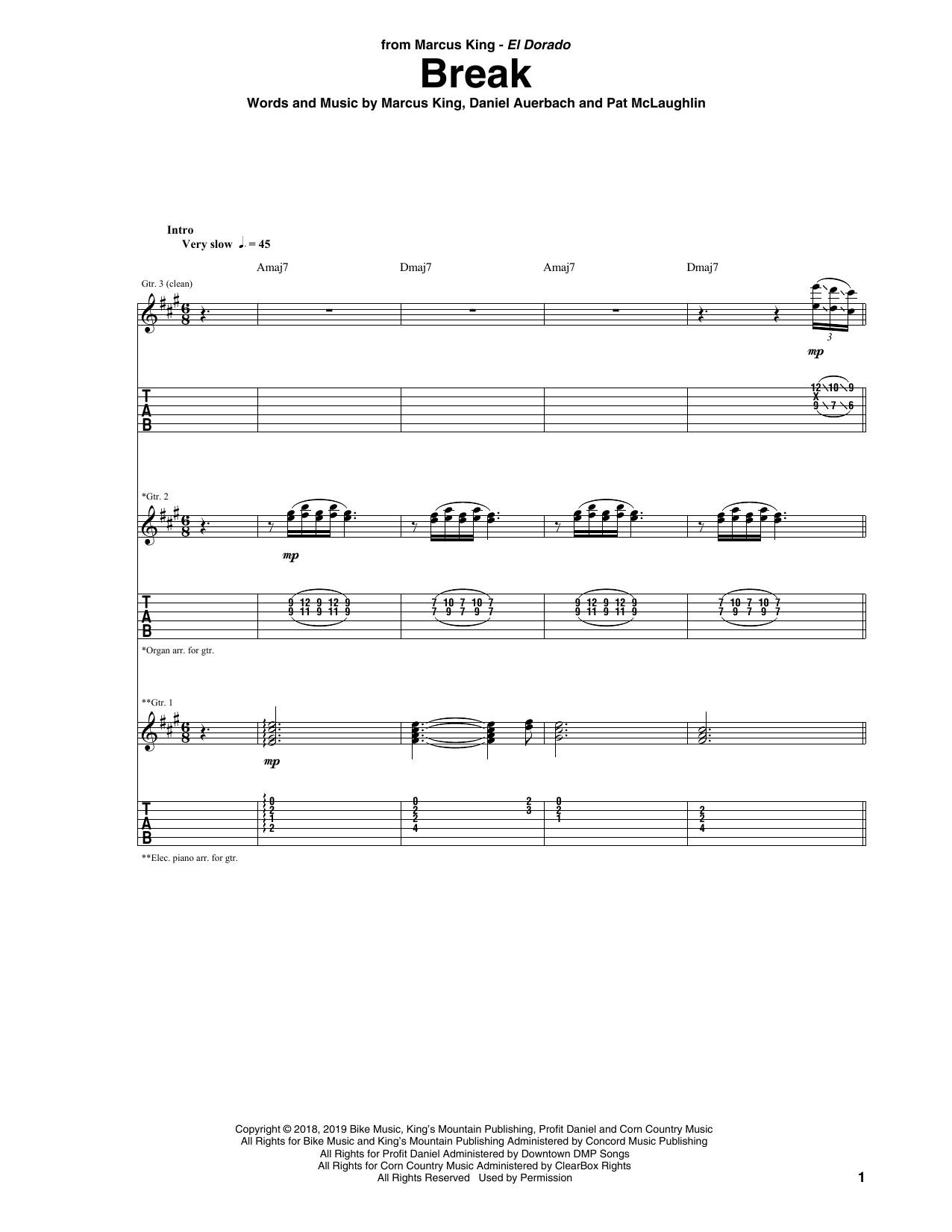 Break Sheet Music