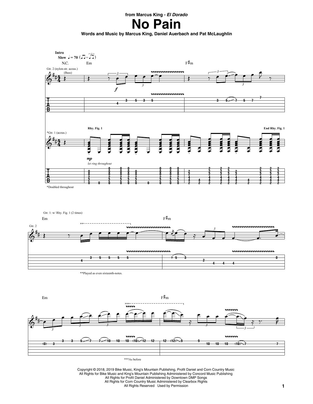 No Pain (Guitar Tab)