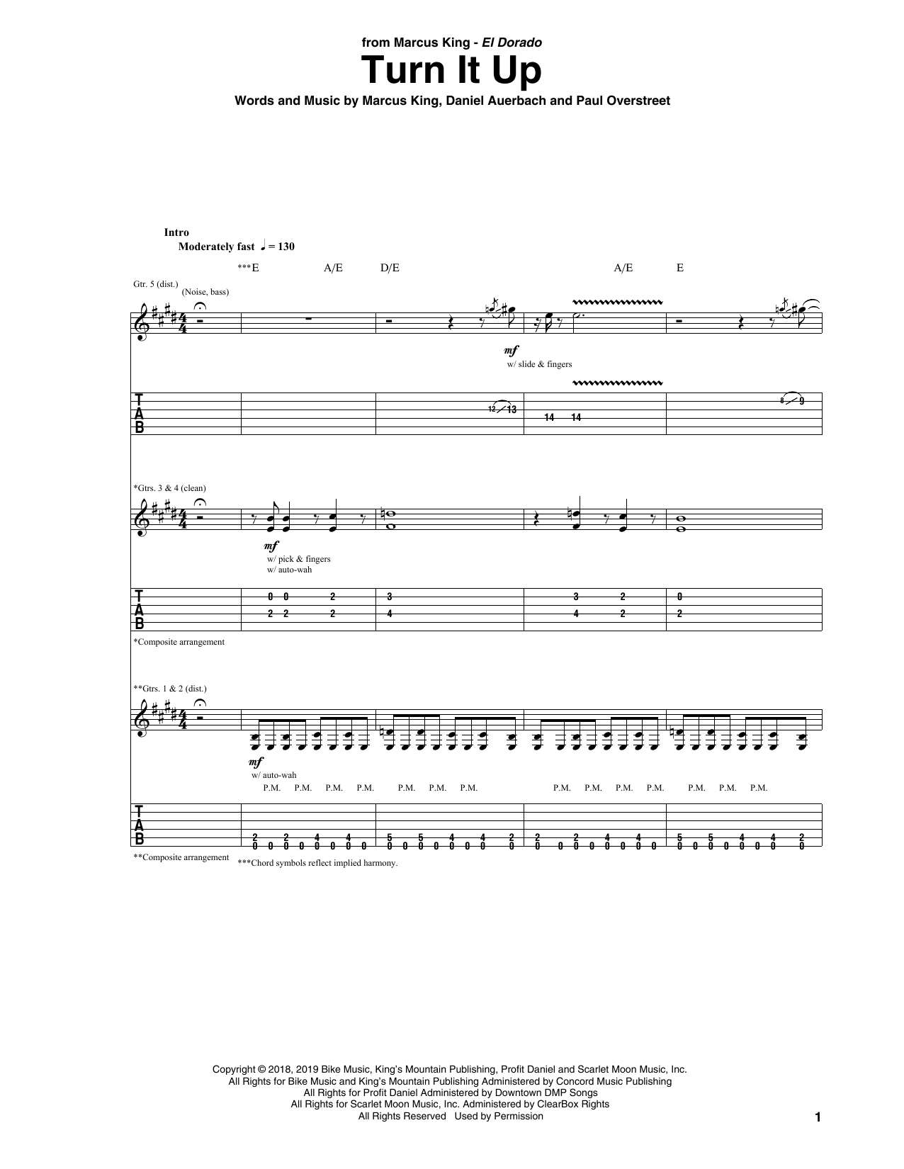 Turn It Up (Guitar Tab)
