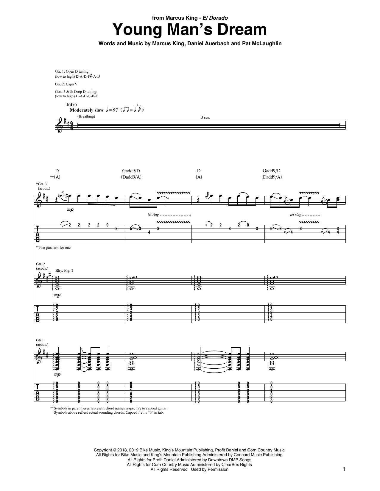 Young Man's Dream (Guitar Tab)