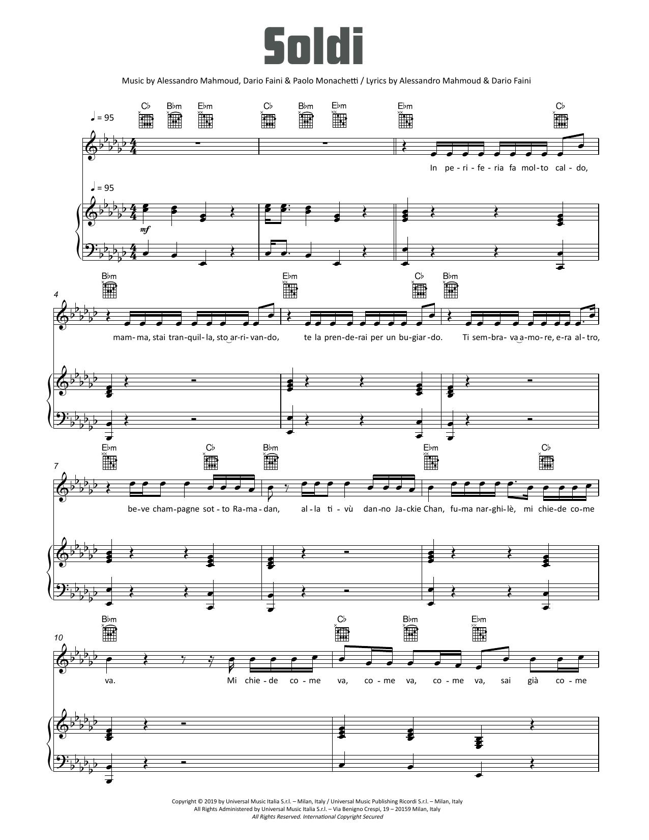 Soldi (Piano & Vocal)