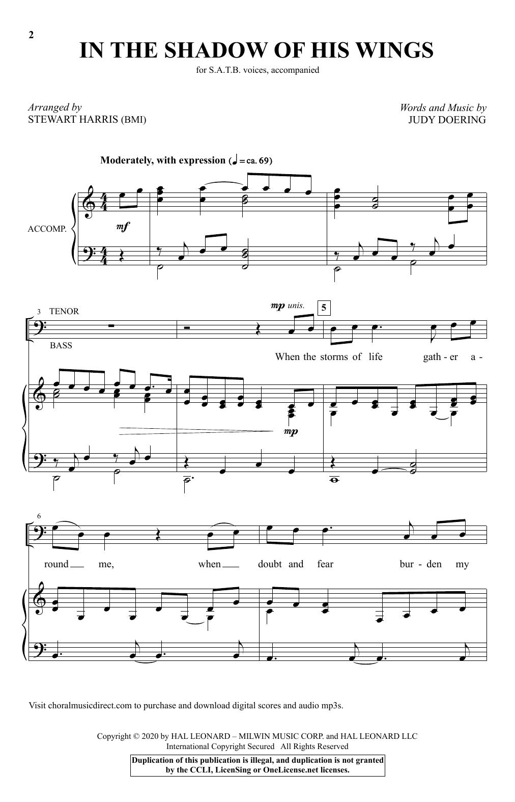 In The Shadow Of His Wings (arr. Stewart Harris) Sheet Music