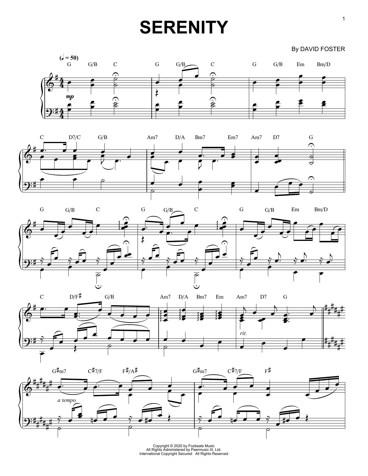 Serenity (Piano Solo)