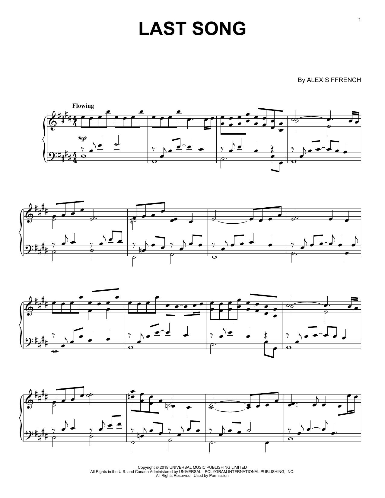 Last Song (Piano Solo)
