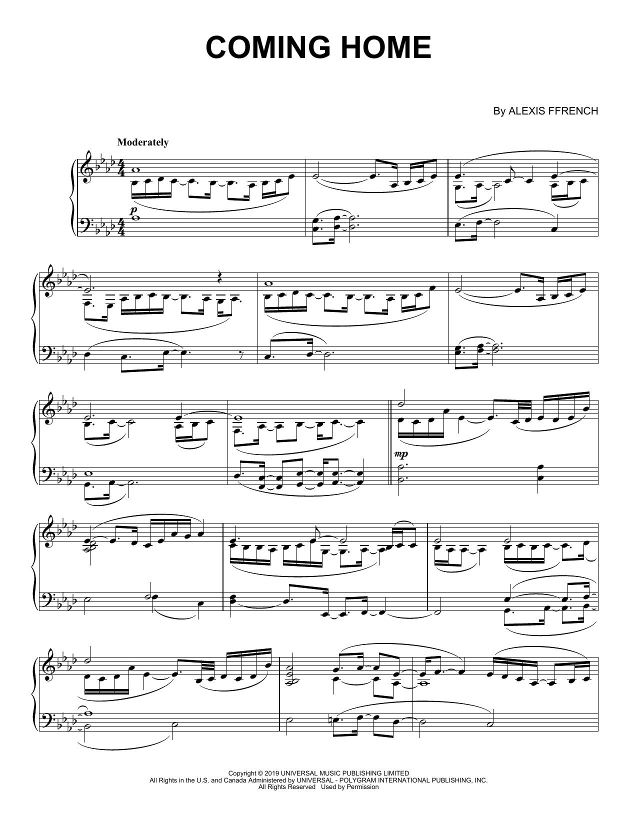Coming Home (Piano Solo)
