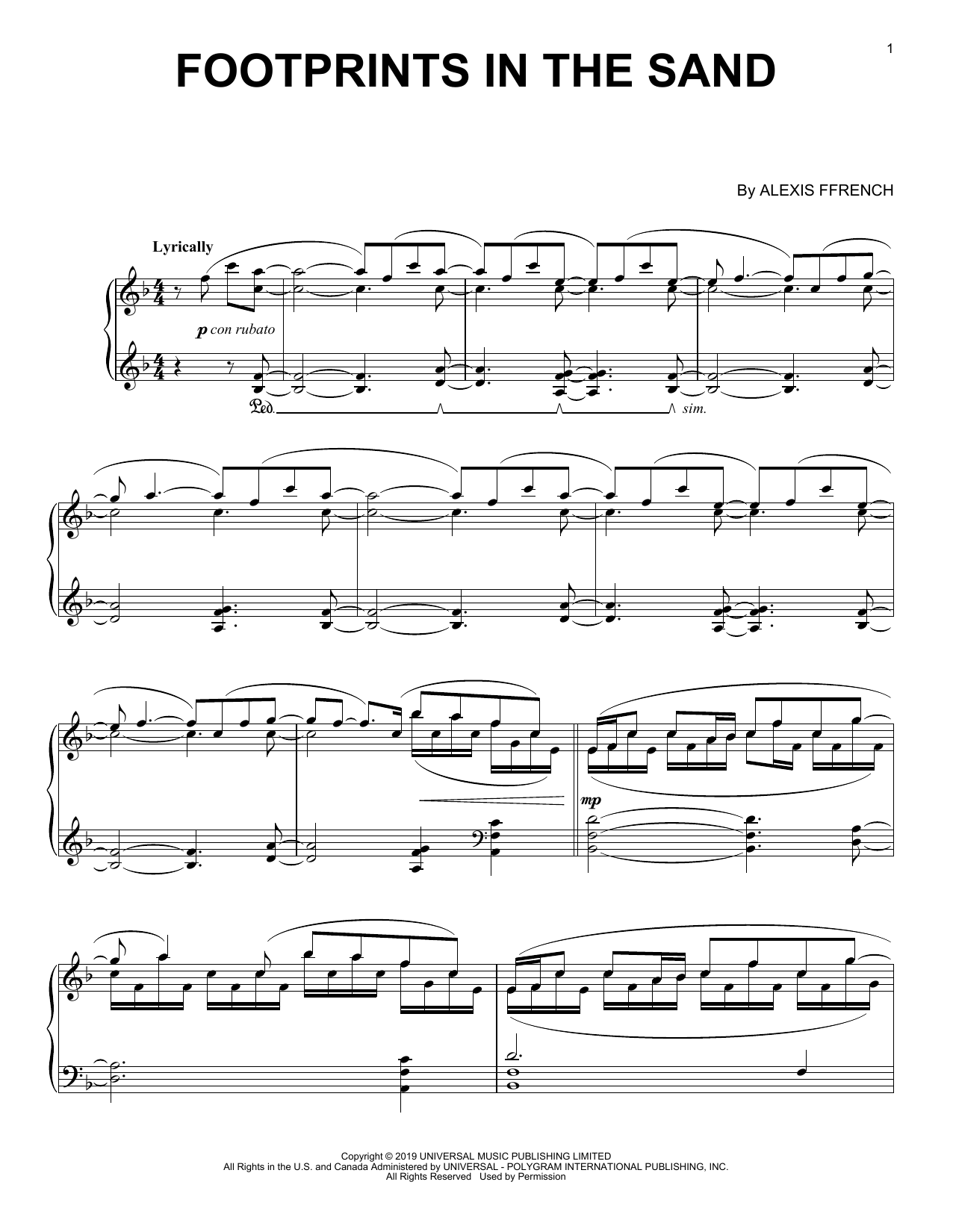 Footprints In The Sand (Piano Solo)